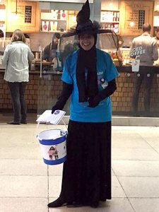 Solicitor Shanaz Ali collecting for Richard Trust Hospice